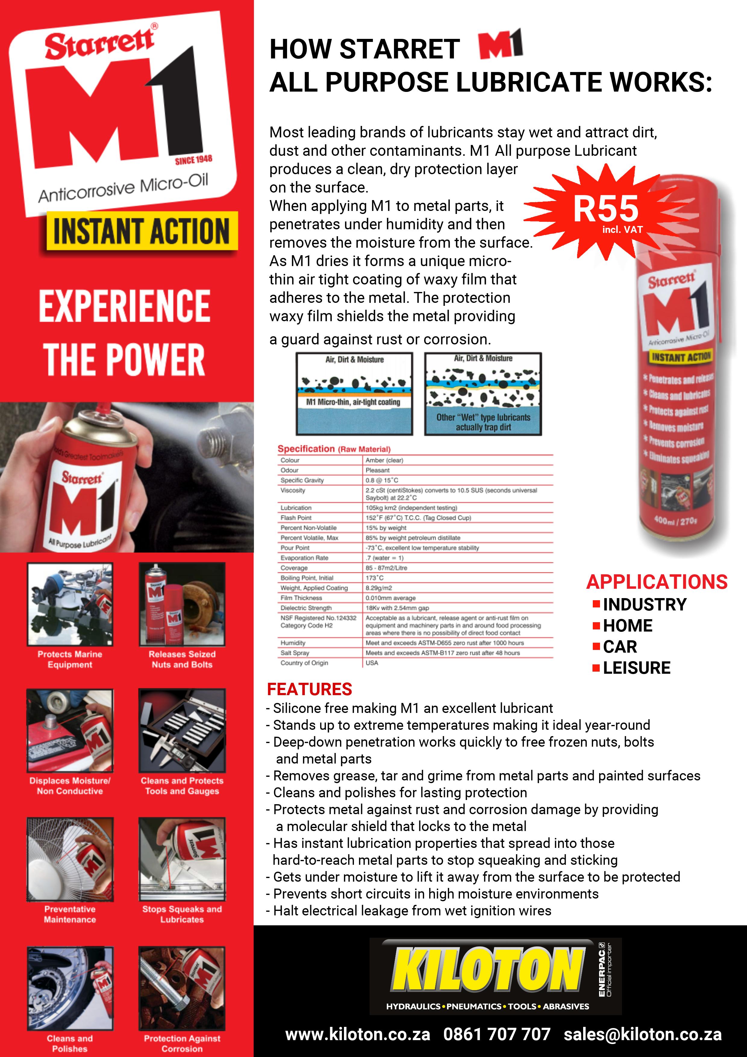 Starret M1 Anti-Corrosive Micro-Oil Launch