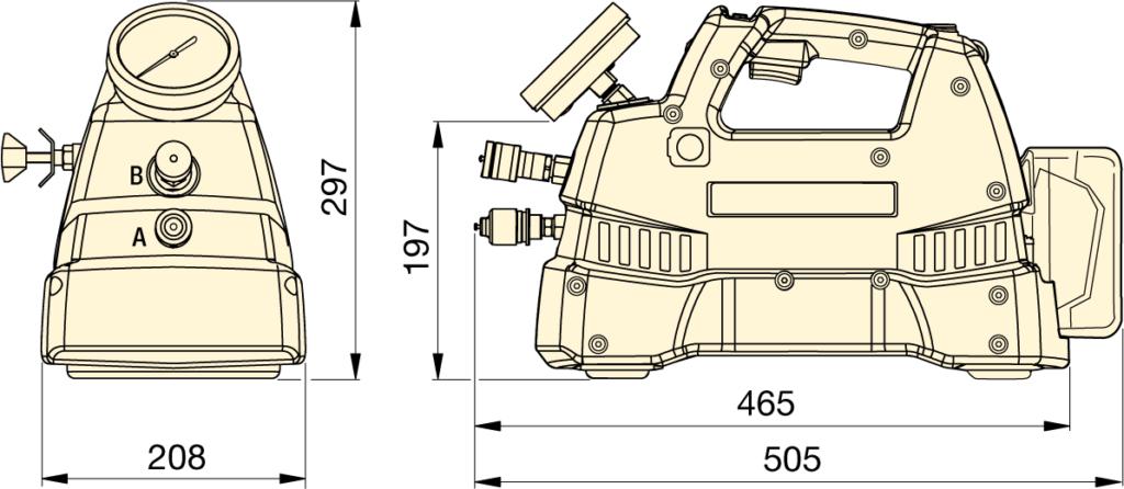 xc-series pump dimensions