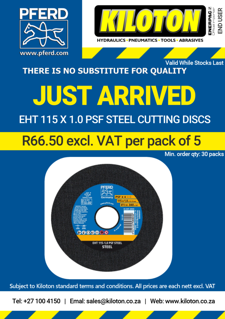 Pferd Just Arrived EHT 115 x 1.0 PSF STEEL CUTTING DISCS END USERS