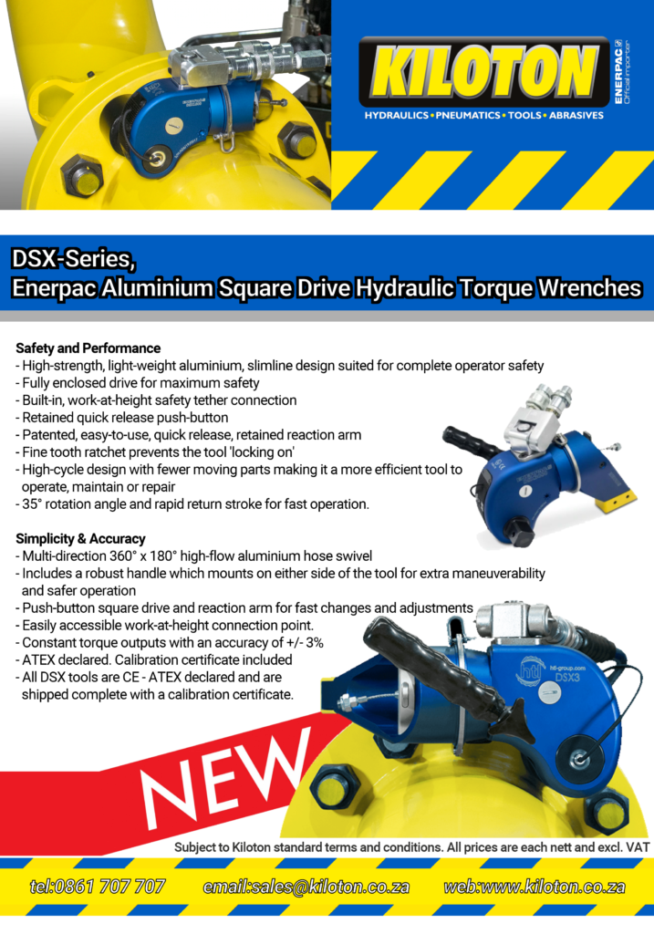 Enerpac DSX-Series Front Page