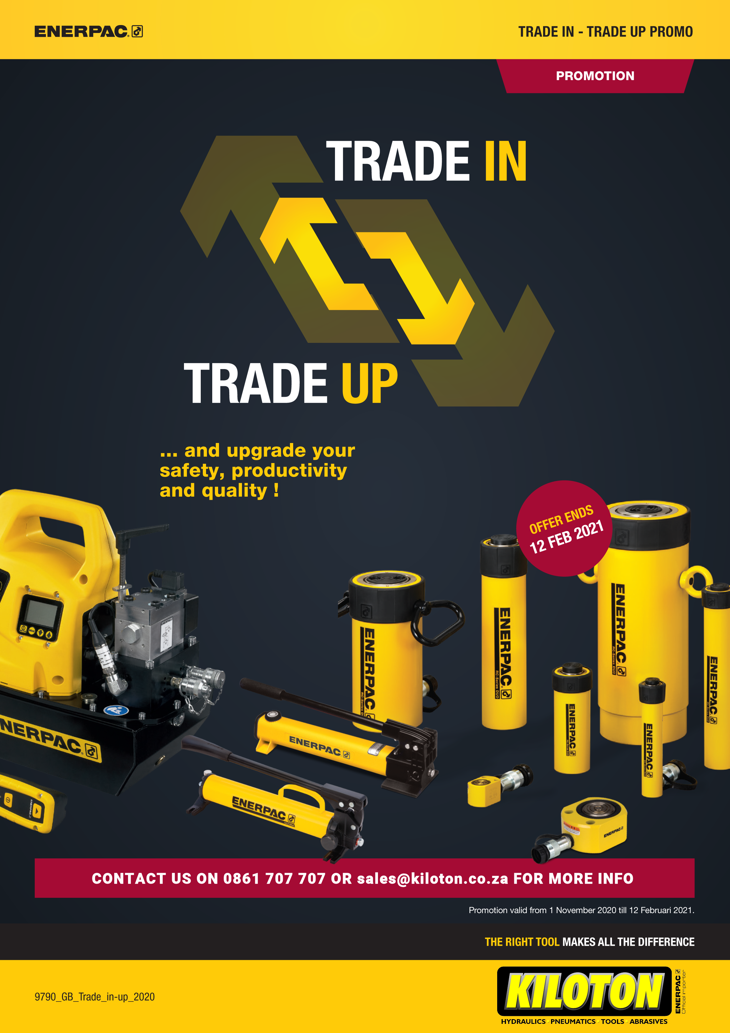 Kiloton Trade In & Trade Up promotion valid until 12 Feb